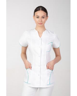 M-310 Żakiet damski medyczny kosmetyczny uniform fartuch damski kolor biały