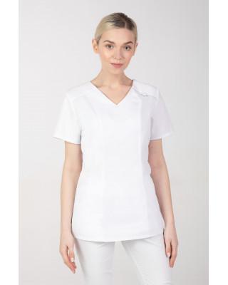 Bluza medyczna damska M-376A 26 kolorów. Biały