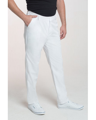 M-140 Spodnie męskie medyczne lekarskie ochronne kolor biały