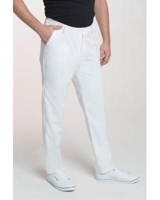 M-140X Spodnie męskie elastyczne białe Odzież męska