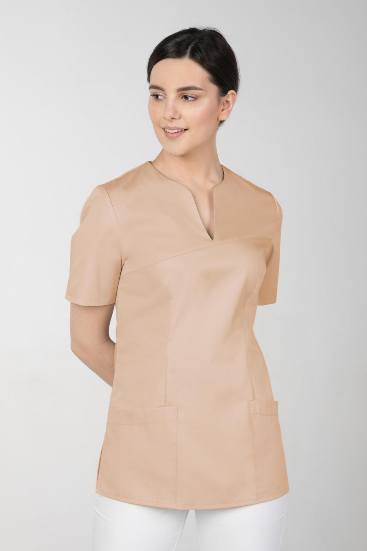 M-323 Bluza medyczna kosmetyczna damska fartuch kolor beż