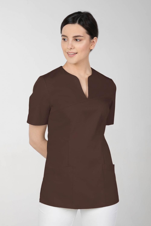 M-323 Bluza medyczna kosmetyczna damska fartuch kolor czekolada