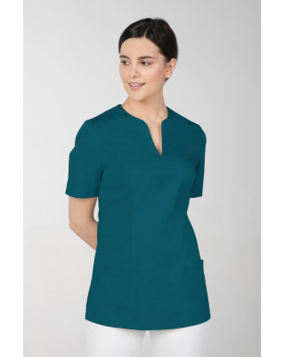 M-323 Bluza medyczna kosmetyczna damska fartuch kolor ciemna zieleń