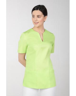 M-323 Bluza medyczna kosmetyczna damska fartuch kolor limonka