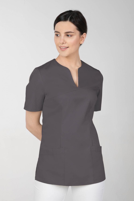 M-323 Bluza medyczna kosmetyczna damska fartuch kolor grafit
