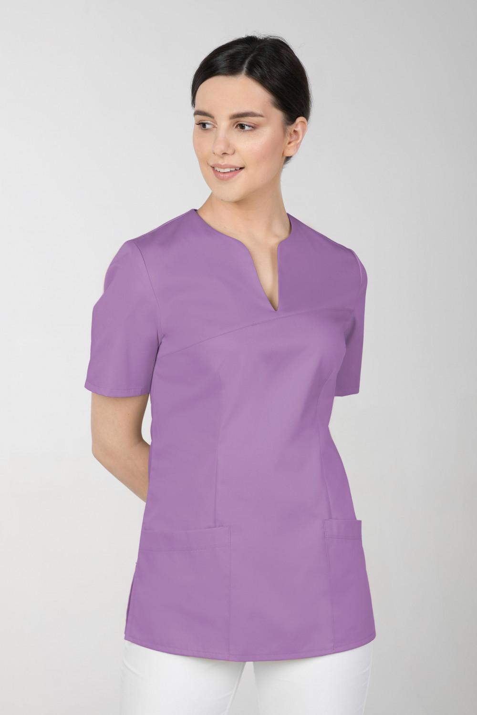 M-323 Bluza medyczna kosmetyczna damska fartuch kolor jagoda