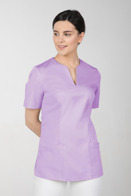 M-323 Bluza medyczna kosmetyczna damska fartuch kolor lawenda
