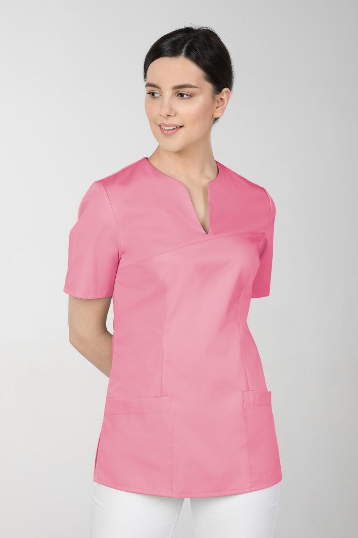 M-323 Bluza medyczna kosmetyczna damska fartuch kolor malina