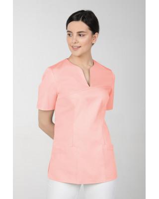 M-323 Bluza medyczna kosmetyczna damska fartuch kolor morela