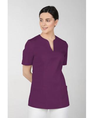 M-323 Bluza medyczna kosmetyczna damska fartuch kolor śliwka