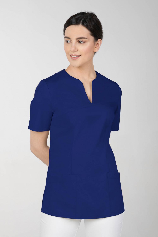 M-323 Bluza medyczna kosmetyczna damska fartuch kolor szafir