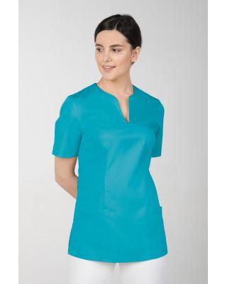 M-323 Bluza medyczna kosmetyczna damska fartuch kolor turkus