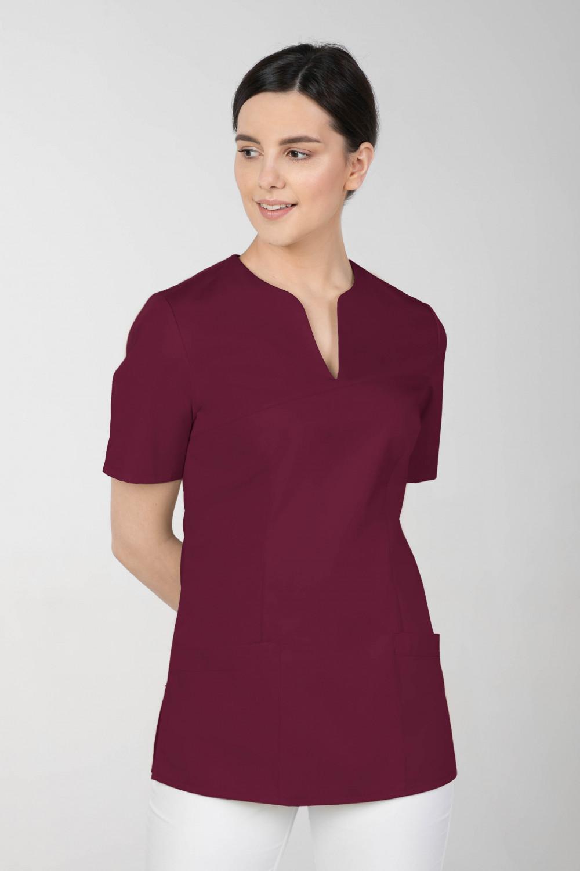 M-323 Bluza medyczna kosmetyczna damska fartuch kolor wiśnia