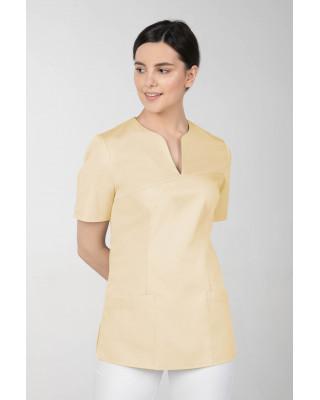 M-323 Bluza medyczna kosmetyczna damska fartuch kolor bananowy