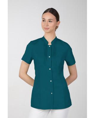 M-343E Żakiet damski bluza medyczna kosmetyczna SPA uniform kolor ciemna zieleń