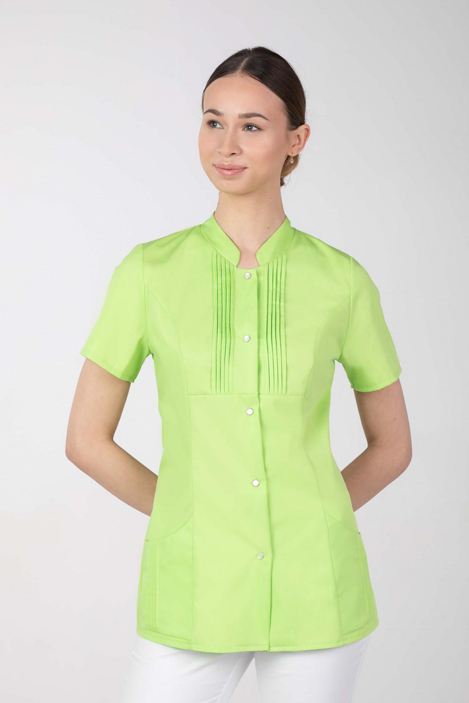 M-343E Żakiet damski bluza medyczna kosmetyczna SPA uniform kolor limonka