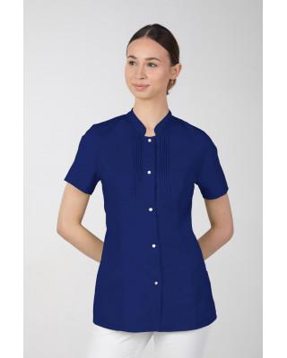 M-343E Żakiet damski bluza medyczna kosmetyczna SPA uniform kolor szafir