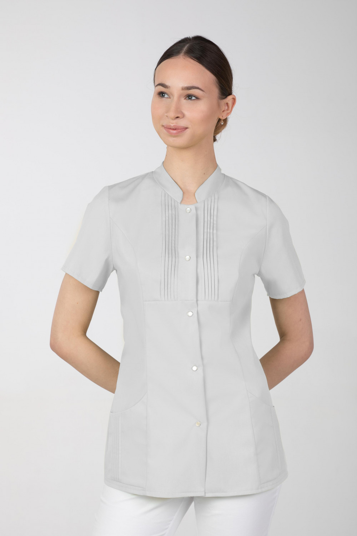 M-343E Żakiet damski bluza medyczna kosmetyczna SPA uniform kolor szary