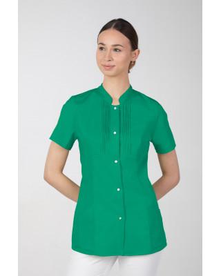 M-343E Żakiet damski bluza medyczna kosmetyczna SPA uniform kolor trawa