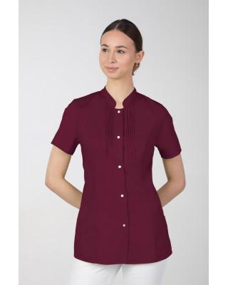 M-343E Żakiet damski bluza medyczna kosmetyczna SPA uniform kolor wiśnia