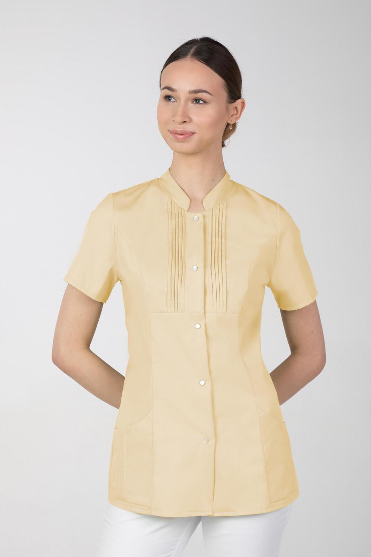M-343E Żakiet damski bluza medyczna kosmetyczna SPA uniform kolor bananowy