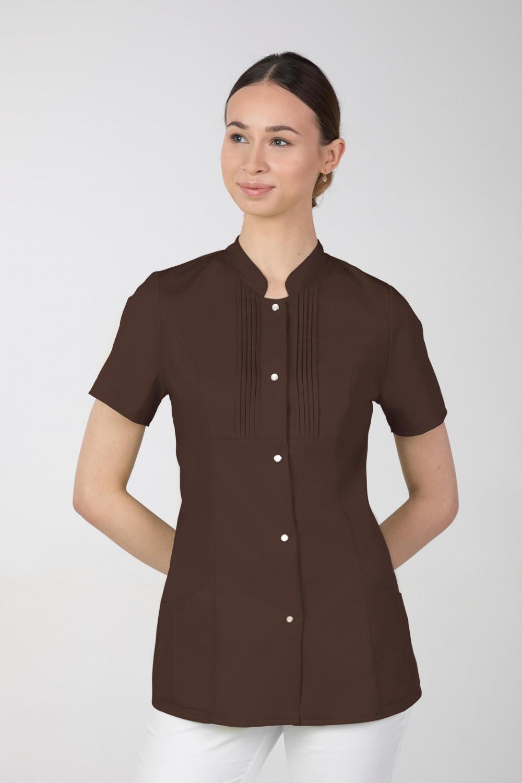 M-343E Żakiet damski bluza medyczna kosmetyczna SPA uniform kolor czekolada