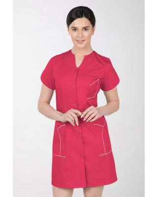 M-310C Fartuch damski medyczny kosmetyczny sukienka medyczna kolor amarant