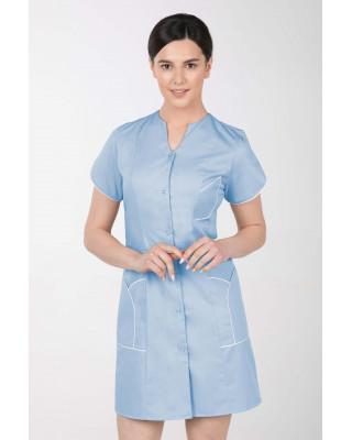 M-310C Fartuch damski medyczny kosmetyczny sukienka medyczna kolor błękit