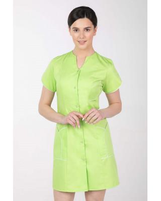 M-310C Fartuch damski medyczny kosmetyczny sukienka medyczna kolor limonka