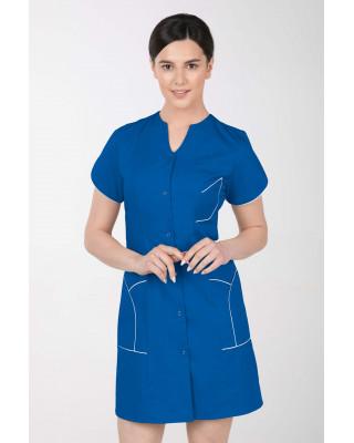 M-310C Fartuch damski medyczny kosmetyczny sukienka medyczna kolor indygo