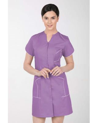 M-310C Fartuch damski medyczny kosmetyczny sukienka medyczna kolor jagoda