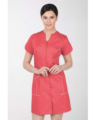 M-310C Fartuch damski medyczny kosmetyczny sukienka medyczna kolor koral