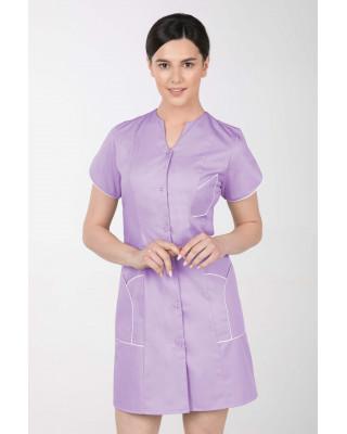 M-310C Fartuch damski medyczny kosmetyczny sukienka medyczna kolor lawenda