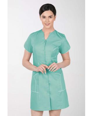 M-310C Fartuch damski medyczny kosmetyczny sukienka medyczna kolor mięta
