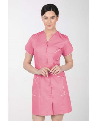 M-310C Fartuch damski medyczny kosmetyczny sukienka medyczna kolor malina