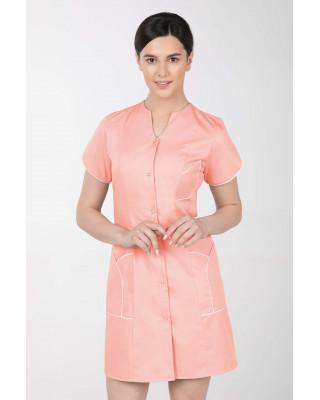 M-310C Fartuch damski medyczny kosmetyczny sukienka medyczna kolor morela