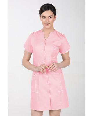 M-310C Fartuch damski medyczny kosmetyczny sukienka medyczna kolor pudrowy róż