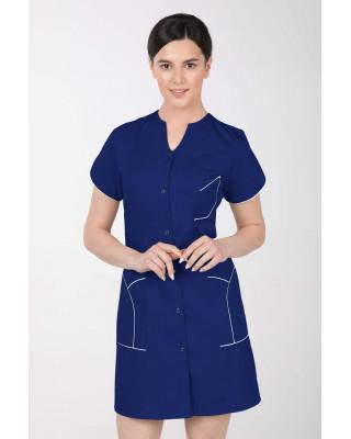 M-310C Fartuch damski medyczny kosmetyczny sukienka medyczna kolor szafir