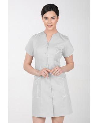 M-310C Fartuch damski medyczny kosmetyczny sukienka medyczna kolor szary