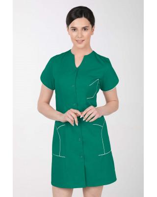 M-310C Fartuch damski medyczny kosmetyczny sukienka medyczna kolor trawa