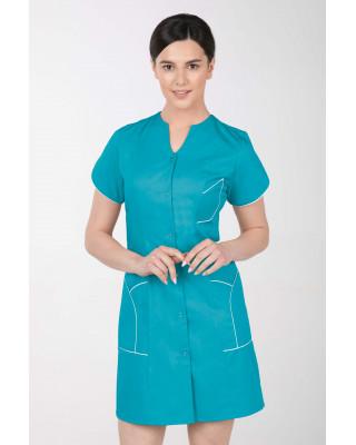 M-310C Fartuch damski medyczny kosmetyczny sukienka medyczna kolor turkus