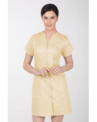 M-310C Fartuch damski medyczny kosmetyczny sukienka medyczna kolor bananowy