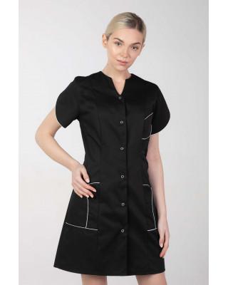 M-310C Fartuch damski medyczny kosmetyczny sukienka medyczna kolor czarny