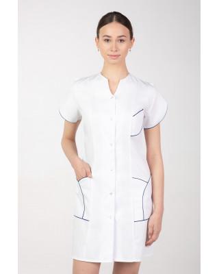 M-310C Fartuch damski medyczny kosmetyczny sukienka medyczna kolor biały