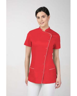 M-354 Żakiet damski medyczny kosmetyczny SPA  kolor czerwony