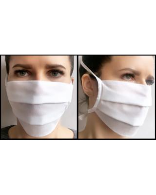Maska ochronna maseczka ochronna przeciwpyłowa na troki biała