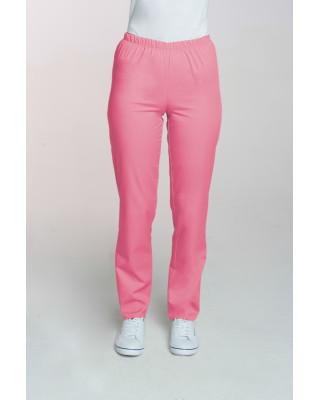 M-086 Spodnie damskie medyczne spodnie do pracy kolor malina
