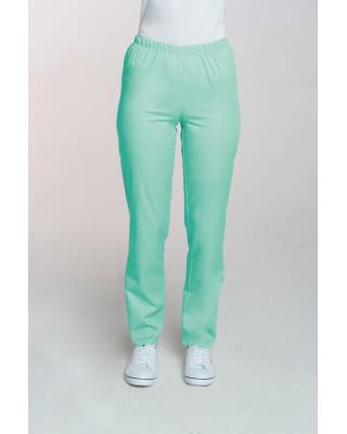 M-086 Spodnie damskie medyczne spodnie do pracy kolor mięta