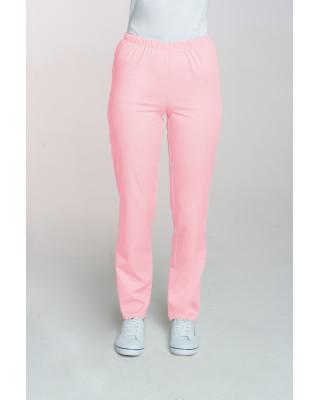 M-086 Spodnie damskie medyczne spodnie do pracy kolor pudrowy róż
