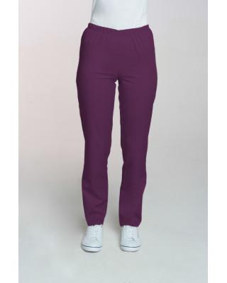 M-086 Spodnie damskie medyczne spodnie do pracy kolor śliwka